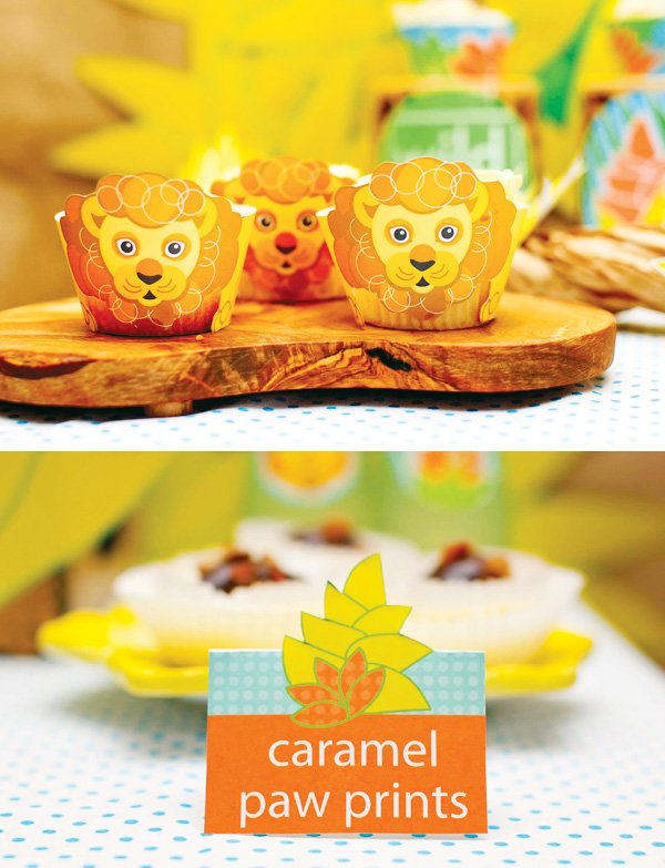 lion cupcake wrappers
