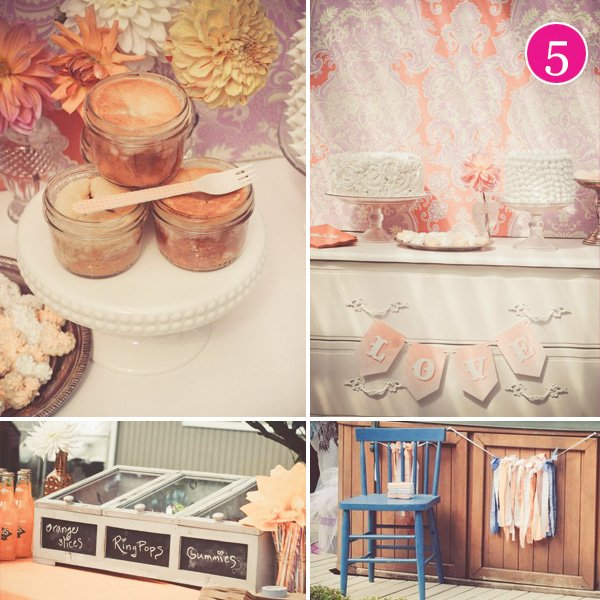 orange bridal shower