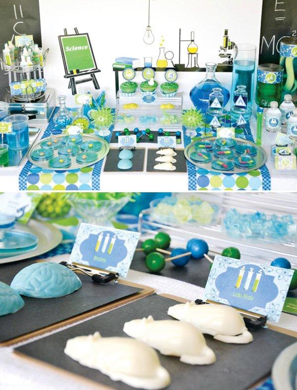 mad scientist dessert table