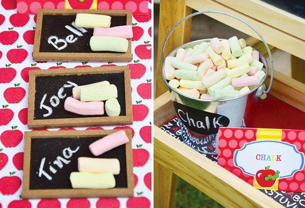 marshmallow chalkboard platters
