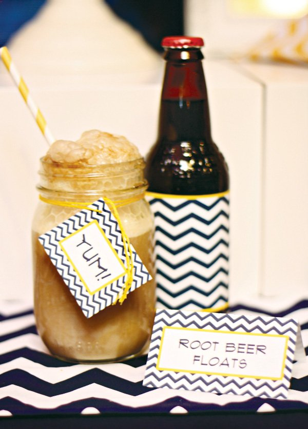 mason jar rootbeer floats