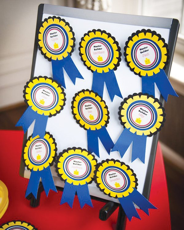 master builder lego birthday party badges