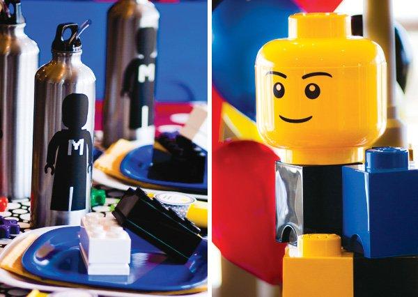 master builder lego birthday party centerpiece