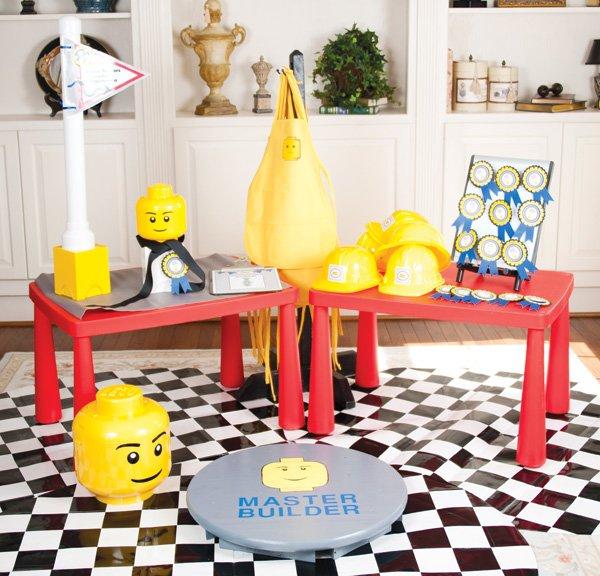 master builder lego birthday party station
