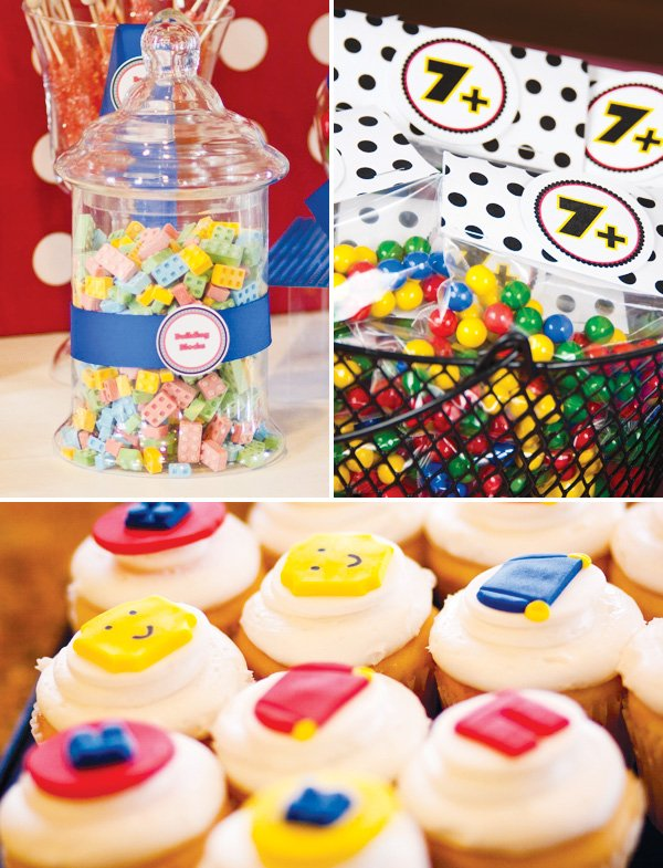 master builder lego birthday party sweets