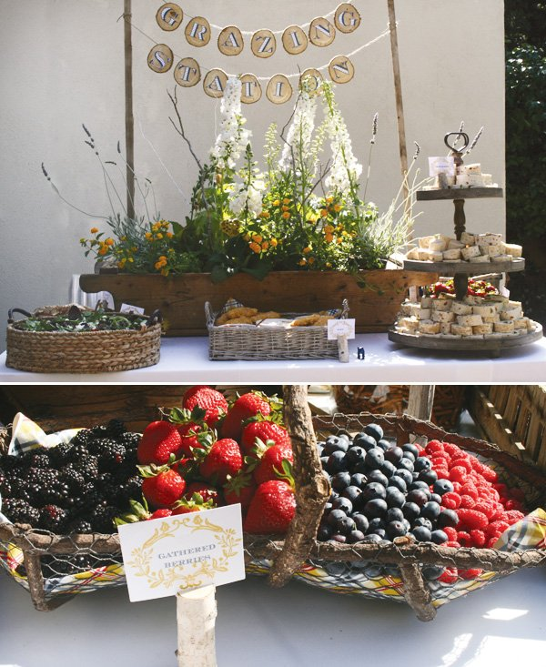 modern nature inspired party gathered berries
