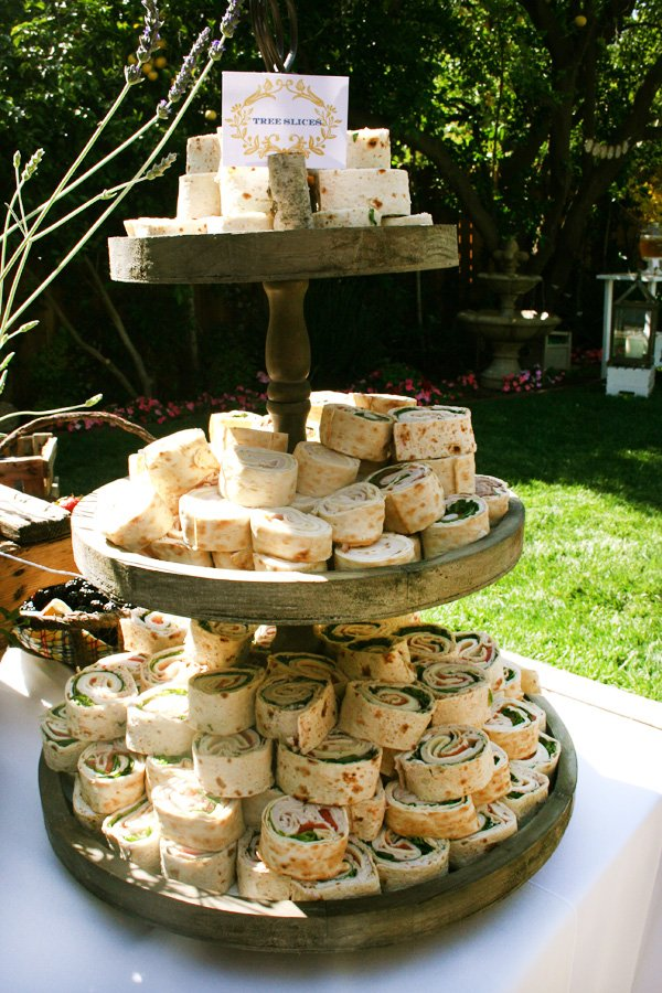 modern nature inspired party food