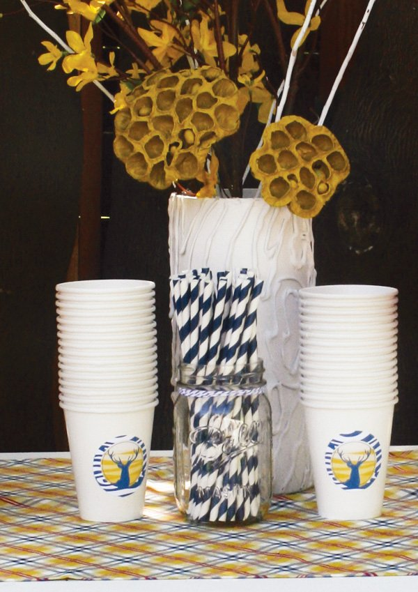 modern nature inspired party birthday cups