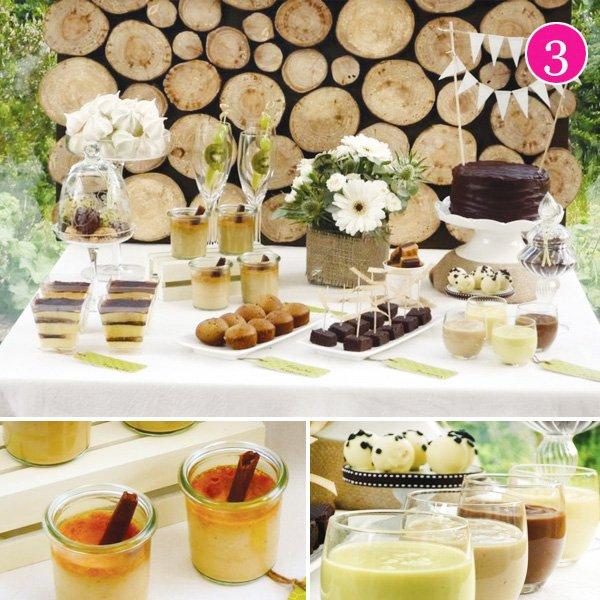 nature inspired dessert table