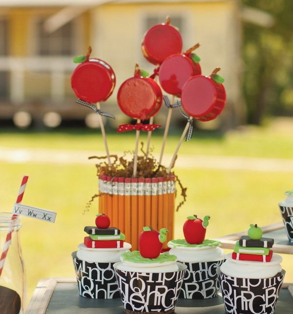 pencil vase candy apples