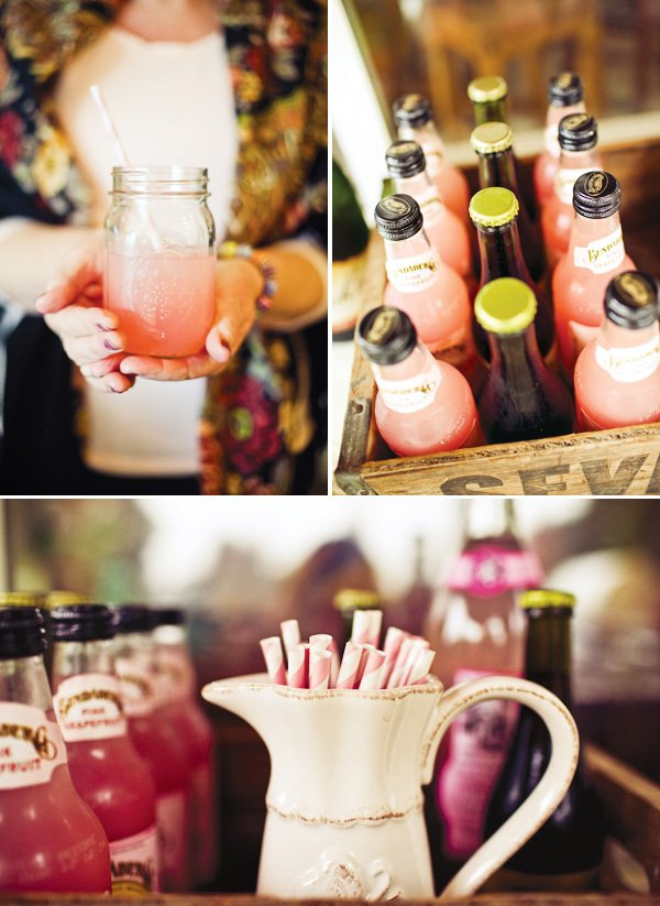 pink baby shower drinks