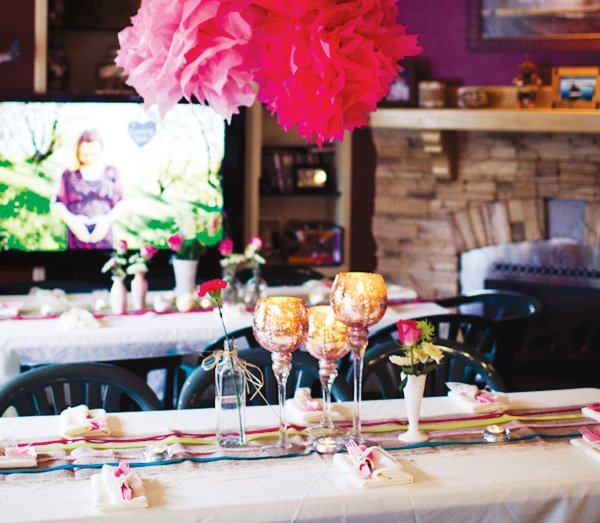 pink baby shower shower ideas tablescape