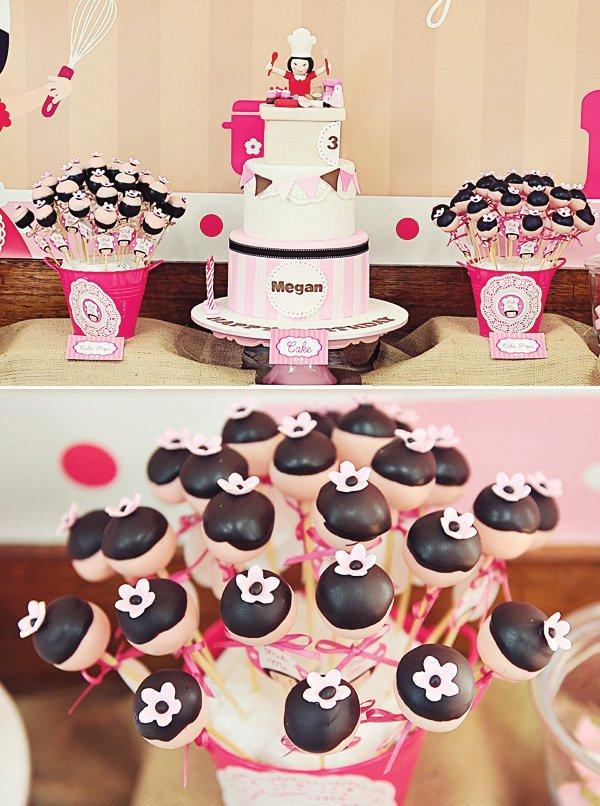 pink baking cake