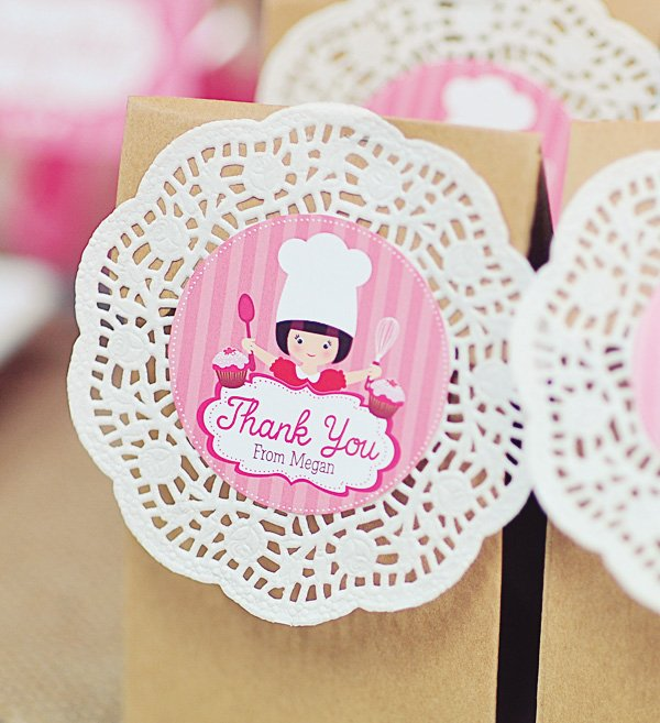 pink baking party ideas