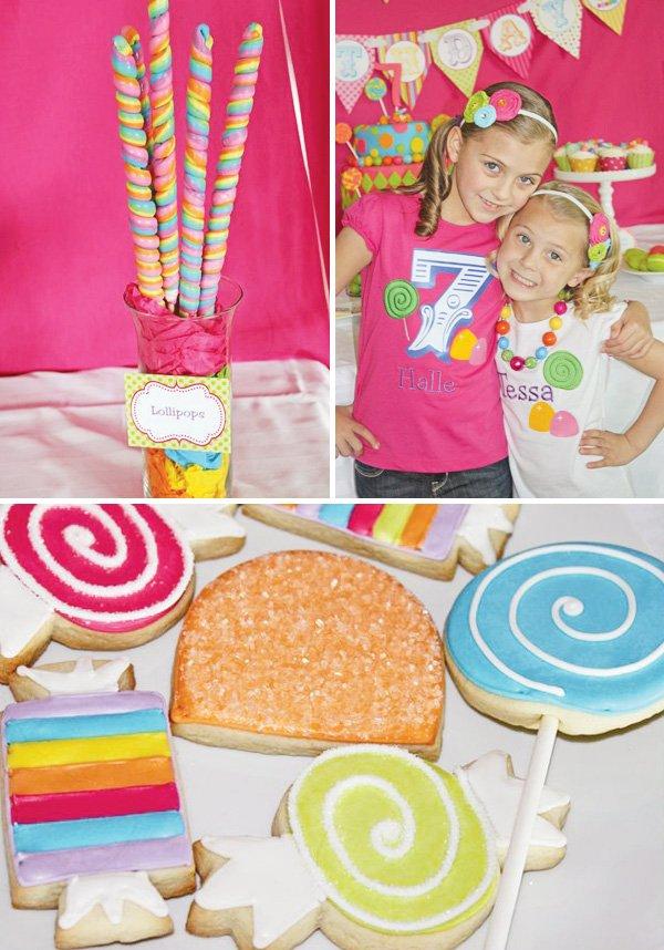 pink candy birthday girl shirt