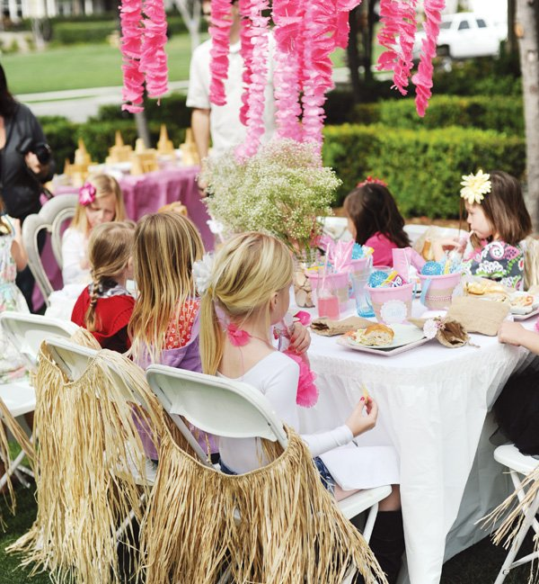 pink luau party