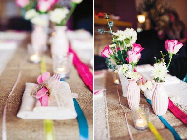 pink silverware baby shower ideas