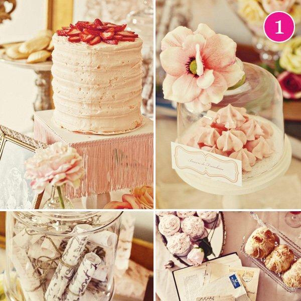 pink strawberry cake