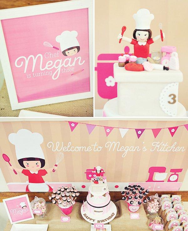 pink vintage baking party