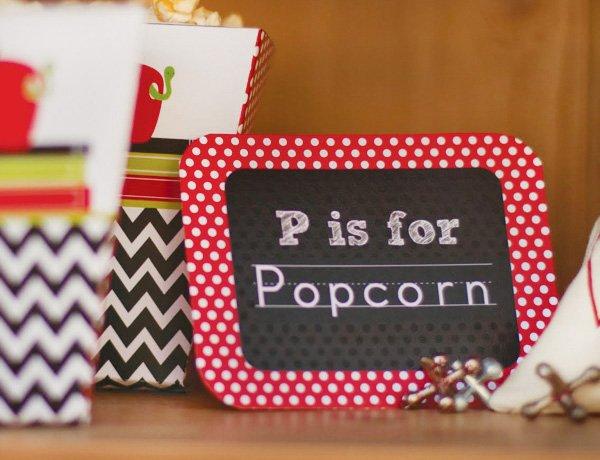 popcorn food label