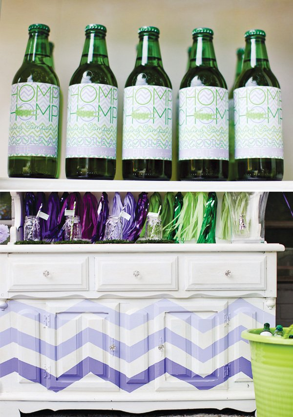 purple chevron drinks