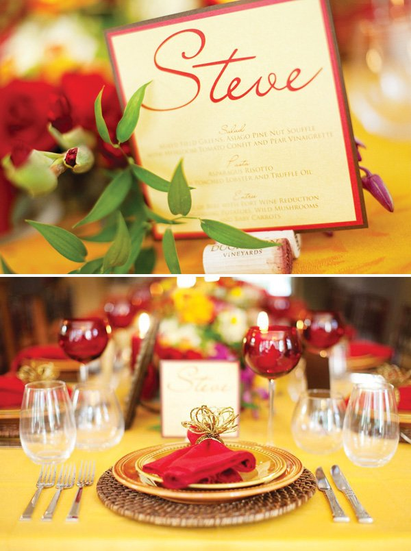 red fall surprise party