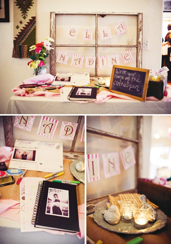 rustic pink baby shower ideas