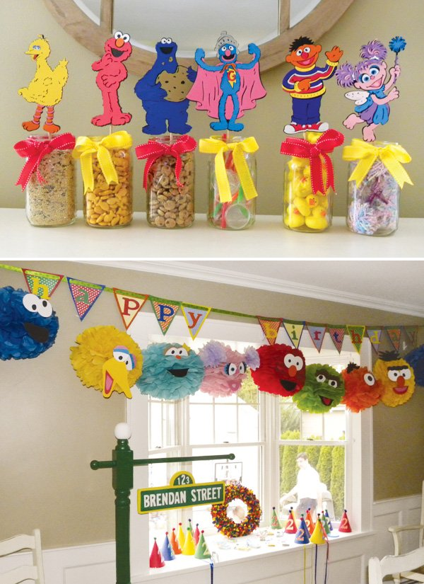Diy sesame street carnival party games hostess with the for Baby decoration games