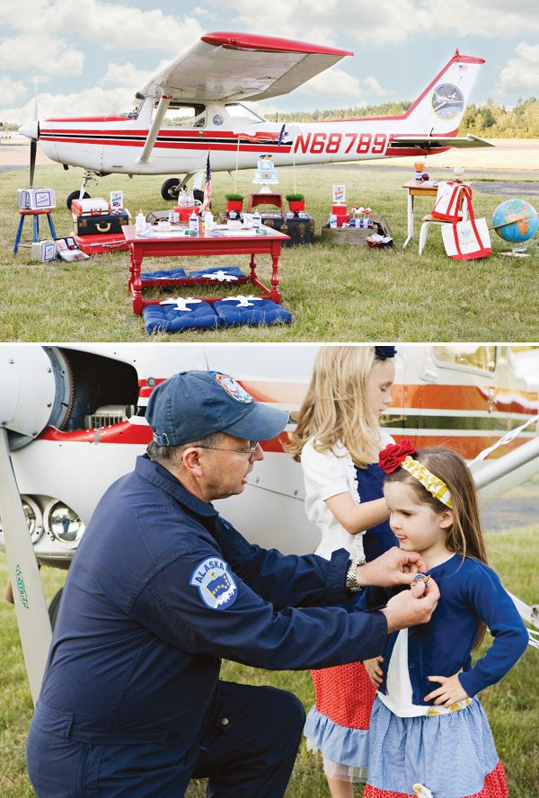 Airplane themed back to school party