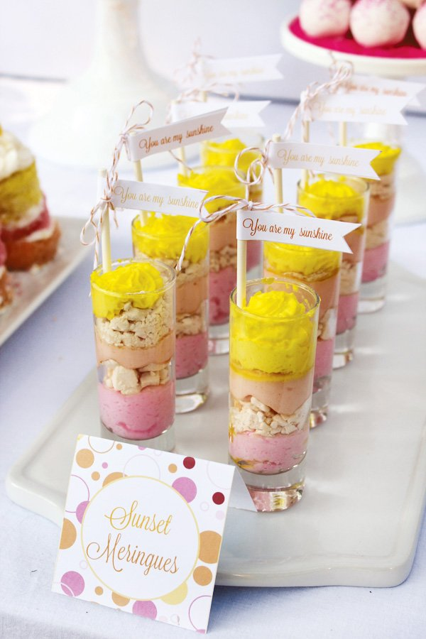 sunset parfaits