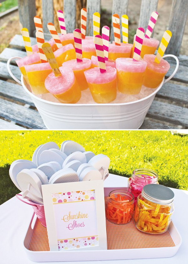 sunshine party popsicles