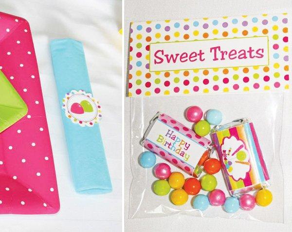 sweet treats and napkin rings