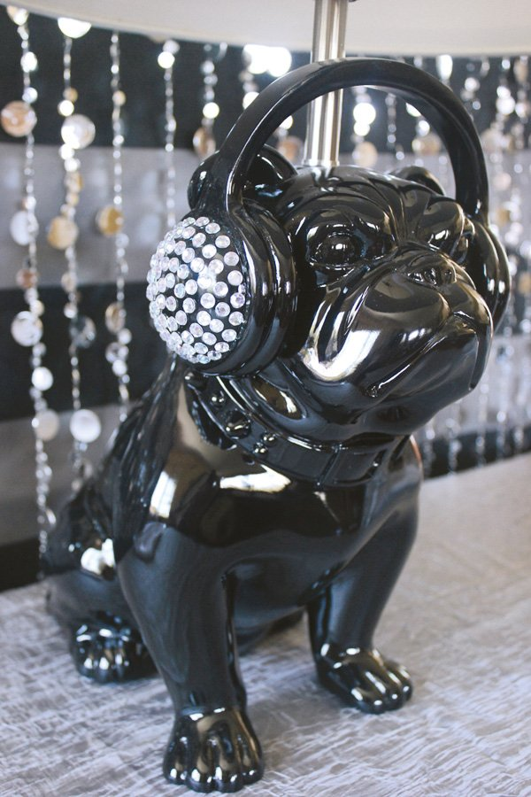 5 tips to a cool teen party decor with a rhinestone encrusted pug