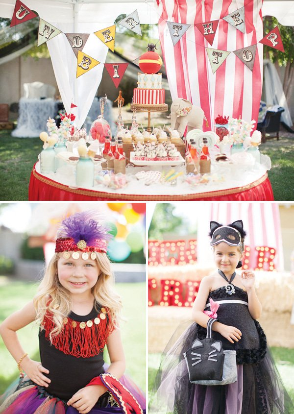 under the big top dessert table