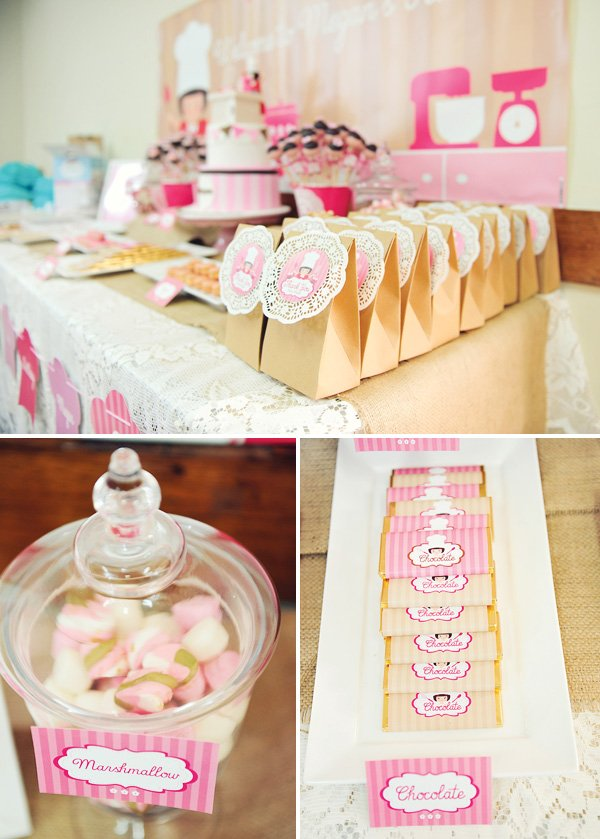 {Pretty & Pink} Vintage Baking Birthday Party // Hostess ...