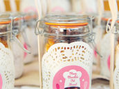 vintage baking party favors