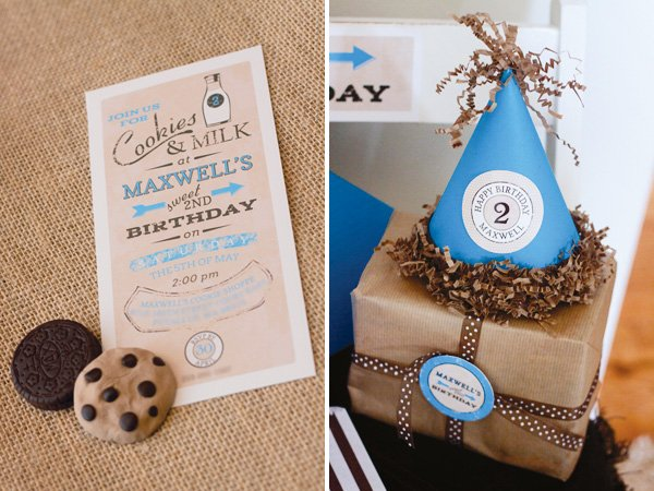 vintage cookie party invitation