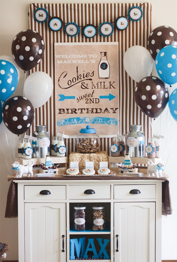 vintage milk and cookies party