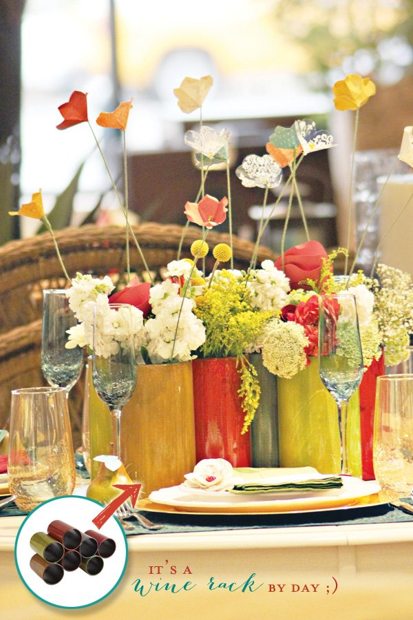 whimsical flower centerpiece