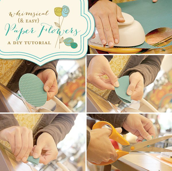 whimsical paper flowers tutorial - part 1