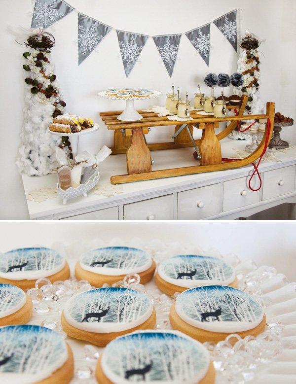 winter sleigh dessert bar