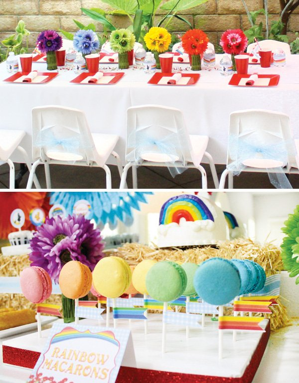 rainbow kids table