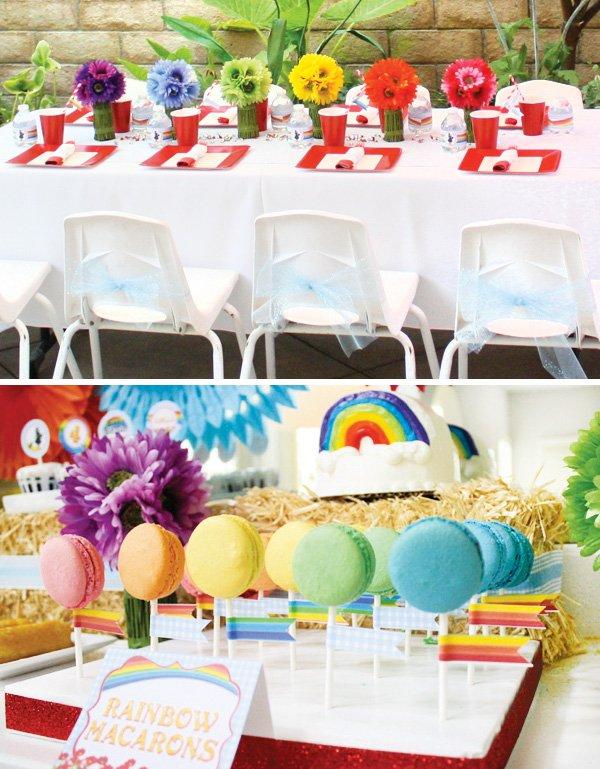 rainbow kids table