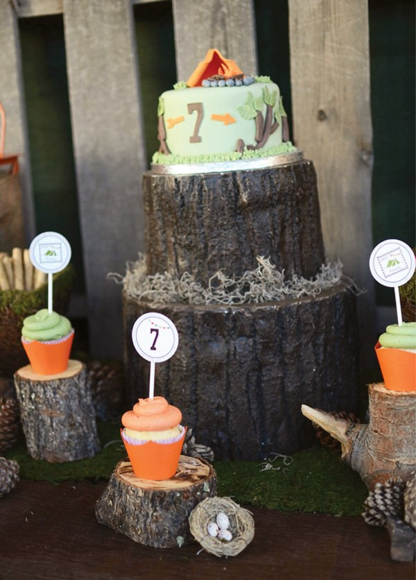 rustic backyard camping party for kids hostess with the mostess