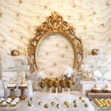 gold snow white inspired party