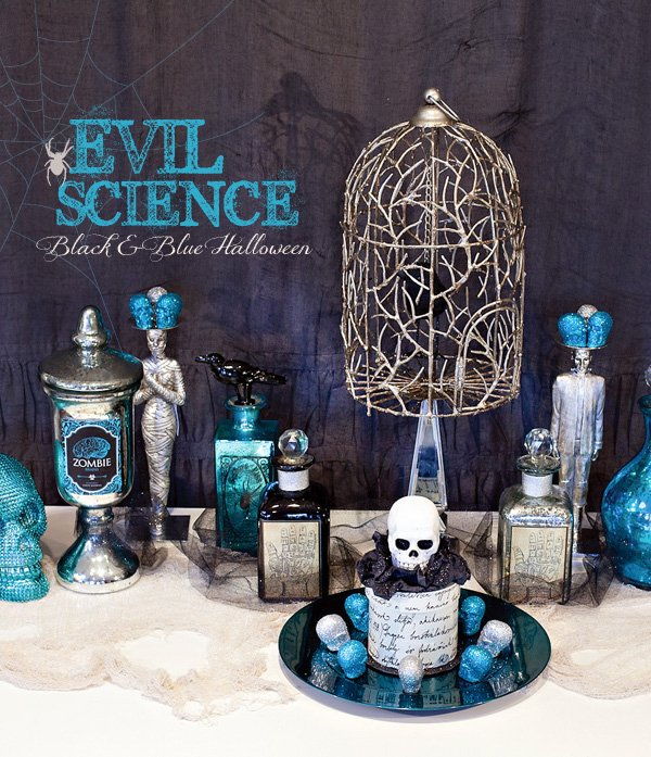 evil science collection with blue halloween ideas