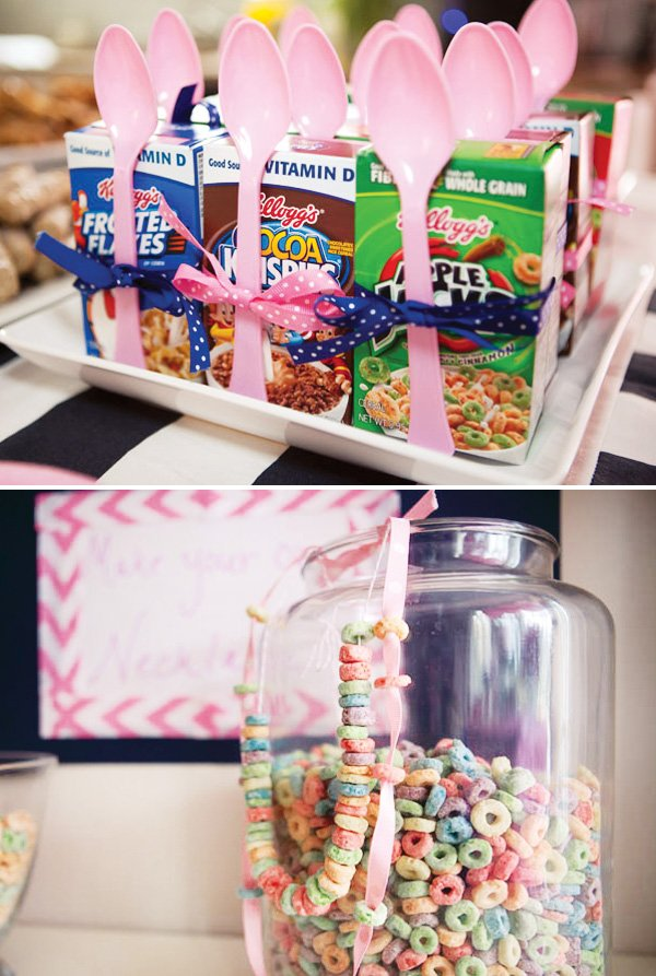pajama party cereal necklace activity
