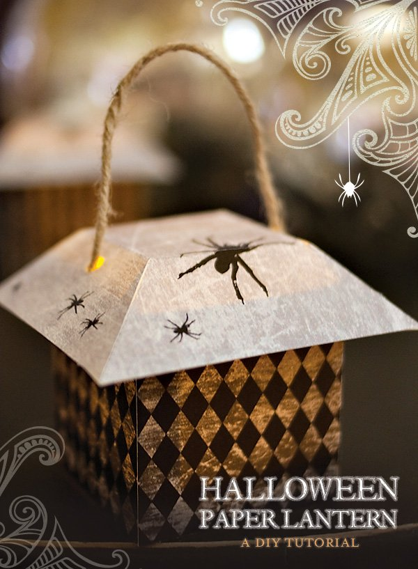 Diy tutorial halloween paper lanterns hostess with for Paper lantern tutorial