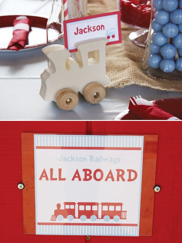 all aboard train party welcome sign