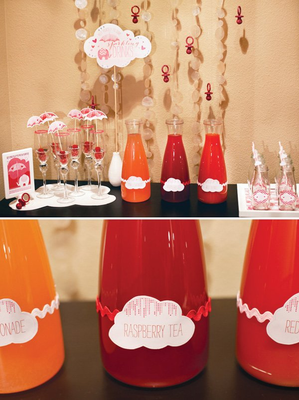 showered with love baby shower drink station